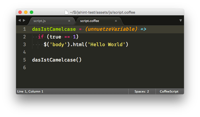 CoffeeScript in Sublime Text